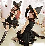 ONG ハロウィン衣装 魔女っ子 吸血鬼 魔女ドレス コスチューム ワンピース パーティー仮装 セクシー 大人用 オレンジ