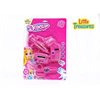 Little Treasures 4-piece Girl Dr明るいピンクPretend Playプラスチック医者Checkup Set for Kids Ages 3 and Up