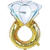 NUOLUX ダイヤモンドリング型 バルーン アルミ風船 ウェディング ロマンチック バレンタインデー 婚約 パーティー デコレーション (サイズL)