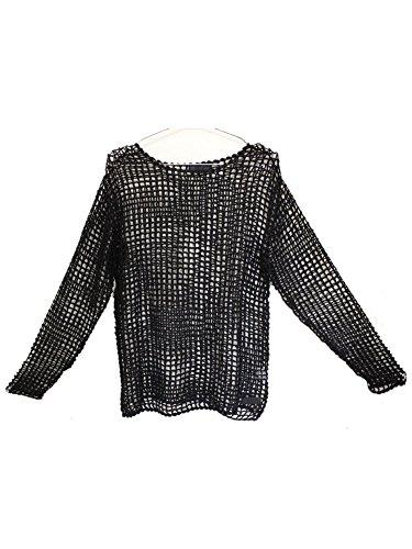 (トリプルシックス) 666 Fish Net T-shirt L/S(フィッシュネットTシャツロングスリーブ) BLACK ブラック SOT804