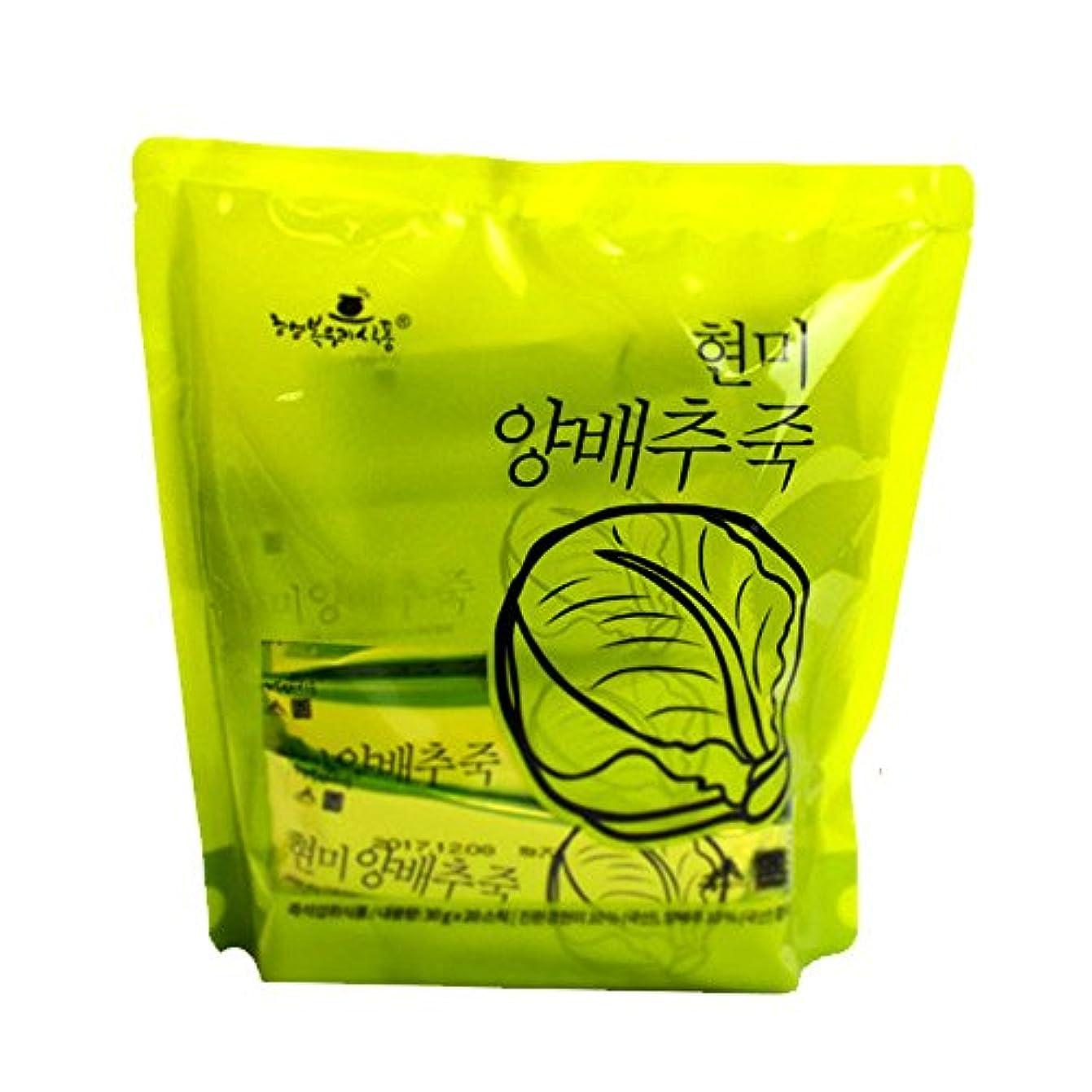 航空機式おなじみの1袋110Kcalのお手軽インスタント韓国粥/玄米白菜粥(30g×20袋)