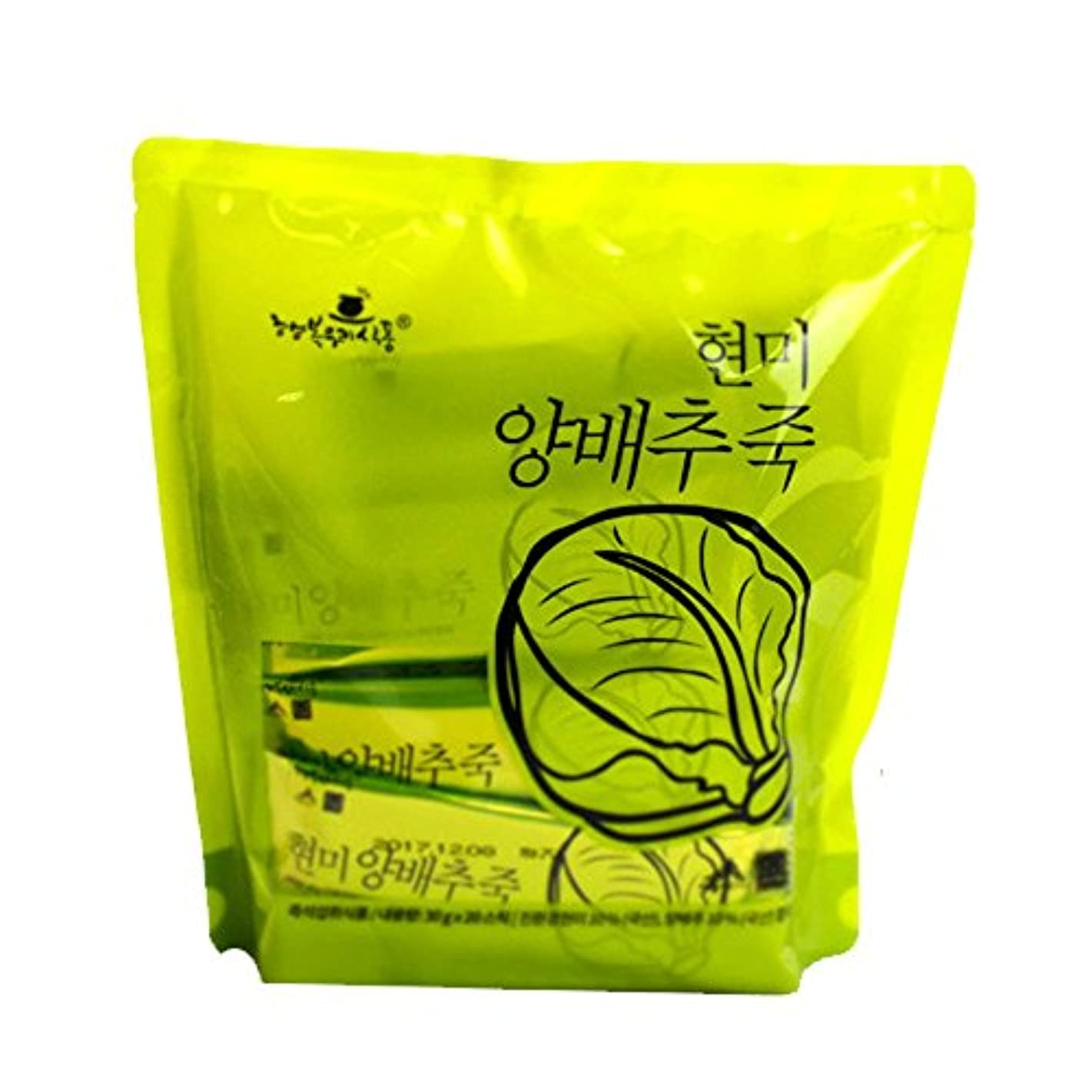 壮大なアッティカス用心深い1袋110Kcalのお手軽インスタント韓国粥/玄米白菜粥(30g×20袋)