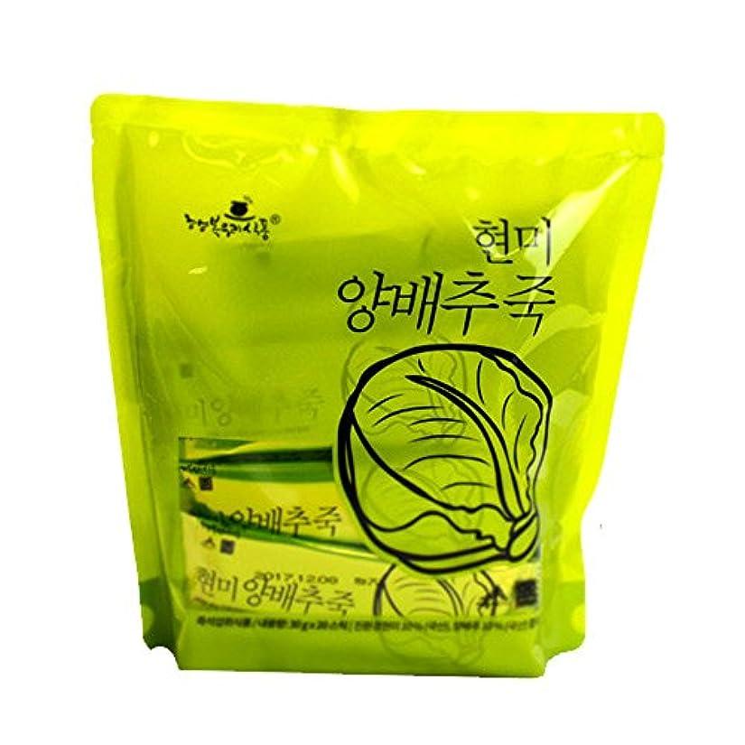 計算可能著名なボウリング1袋110Kcalのお手軽インスタント韓国粥/玄米白菜粥(30g×20袋)