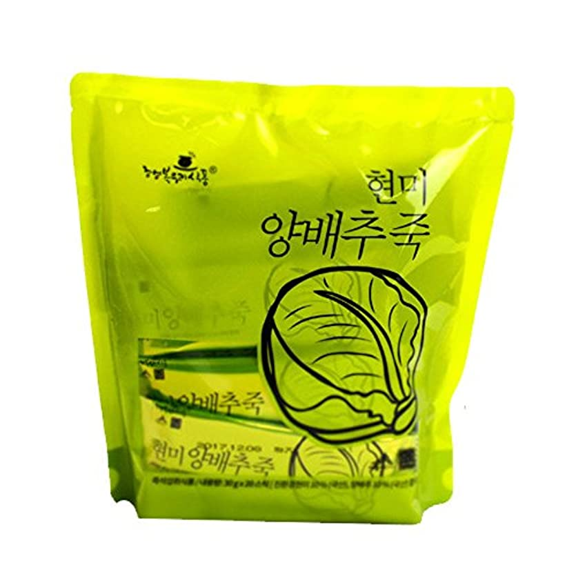練習した合併淡い1袋110Kcalのお手軽インスタント韓国粥/玄米白菜粥(30g×20袋)