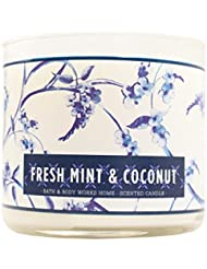 Bath & Body Works Candle 3 Wick 14.5オンスフレッシュミント& Coconut