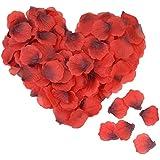 YIGO 人造花 花びら 薔薇 バラ 装飾 赤 単品 贈り物 フラワーシャワー 結婚式 誕生日 クリスマス パーティーグッズ お祝い 飾り シャワー グッズ 100枚セット