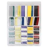 Yakamoz 500個セット カラー熱収縮チューブセット、シュリンクチューブ、配線保護カバー