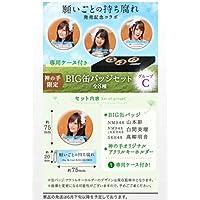 非売品 限定 AKB48 SKE48 NMB48 HKT48 NGT48選抜総選挙シングル 願い事の持ち腐れ BIG缶バッジセット 山本彩 白間美瑠 高柳明音 神の手
