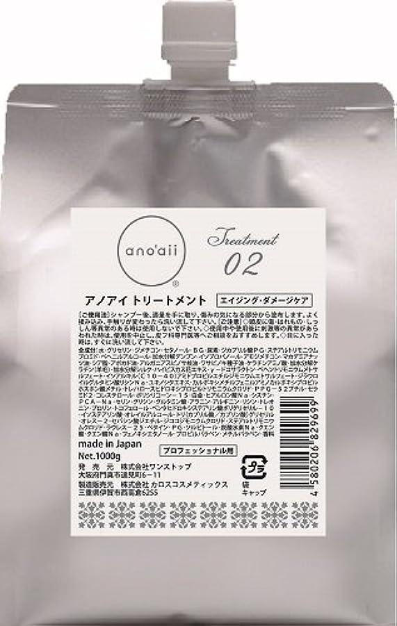 結晶ベアリングサークルキャンペーンアノアイ(anoaii) エイジングダメージケアトリートメント 1000g レフィル