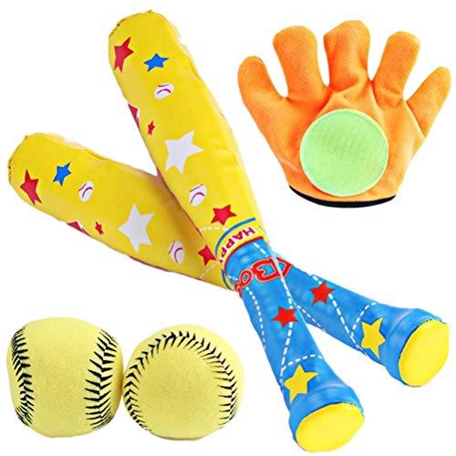 Creacom 野球セットおもちゃ 子供用 スポーツゲームおもちゃ ベースボール 野球 グローブ 室内室外 キッズ用 ベースボール 3歳以上 誕生日 クリスマス プレゼント ギフト