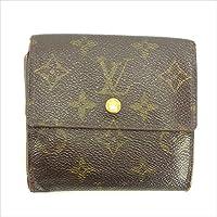 ルイヴィトン Louis Vuitton Wホック財布 三つ折り ユニセックス ポルトモネビエカルトクレディ M61652 モノグラム 中古 Y4911