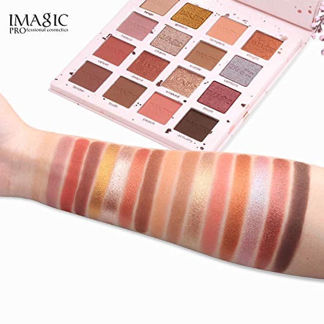 観察する調和関数16色coloShimmerグリッターアイシャドウパウダーマットアイシャドウ化粧品メイクアップ