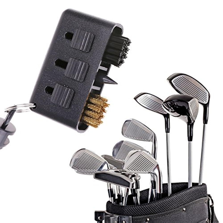 k-outdoor ゴルフブラシ 清潔用ブラシ 多機能 ゴルフクラブクリーニングブラシ ゴルフメンテナンス用品