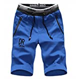 [ Smaids x Smile (スマイズ スマイル) ] ボトム ハーフ パンツ 短パン ジャージ スウェット スポーツ ロゴ メンズ ブルー M