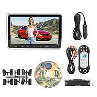 EBTOOLS DVDプレーヤーモニター、ユニバーサルHD 10.1インチデジタルスクリーンカーヘッドレストDVDプレーヤーFMラジオオーディオビデオMP3プレーヤー