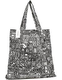 マリメッコ バッグ MARIMEKKO 068708 190 BUBI BAG レディース ファブリック トートバッグ WHITE/BLACK [並行輸入品]