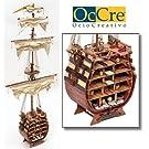 1206 輸入木製帆船模型 アークレー/サンティシマ・トリニダー・クロスセクション