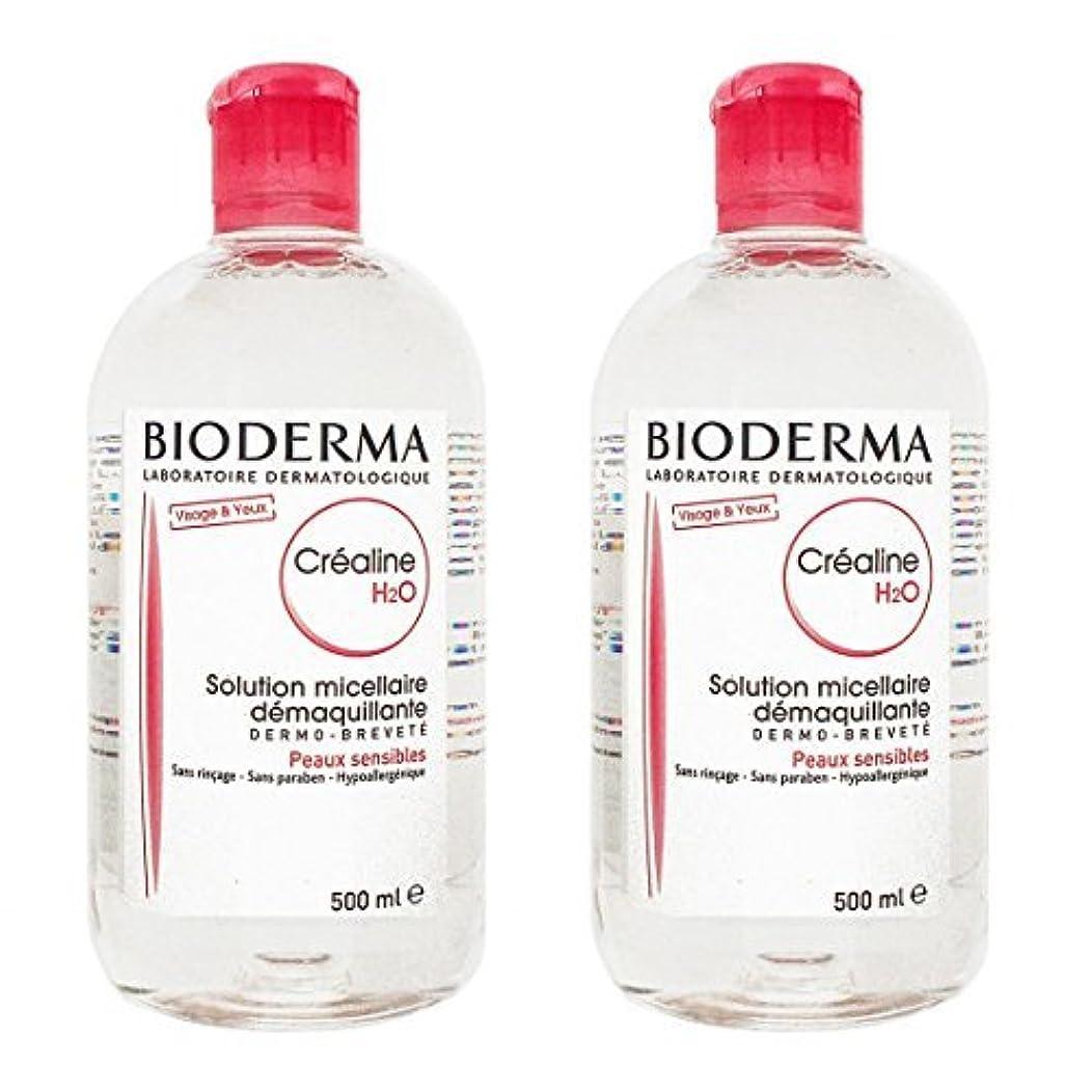 会計士雰囲気発明ビオデルマ(BIODERMA) サンシビオ H2O (エイチ ツーオー) D 500ml 2本セット [並行輸入品]