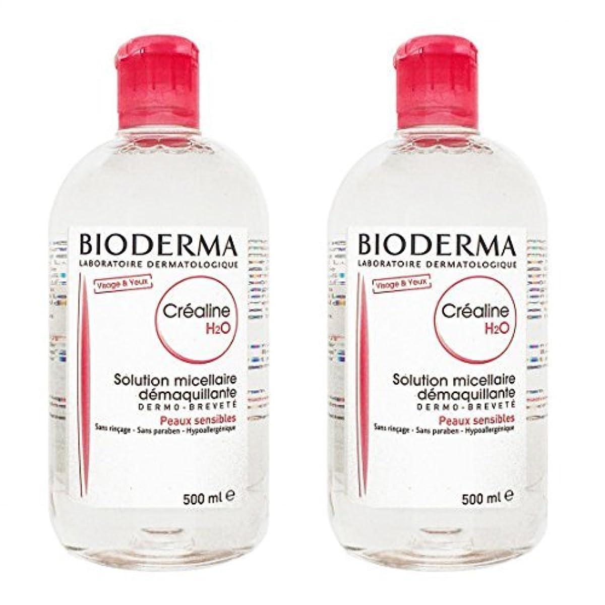 盲信原油シンカンビオデルマ(BIODERMA) サンシビオ H2O (エイチ ツーオー) D 500ml 2本セット[並行輸入品]