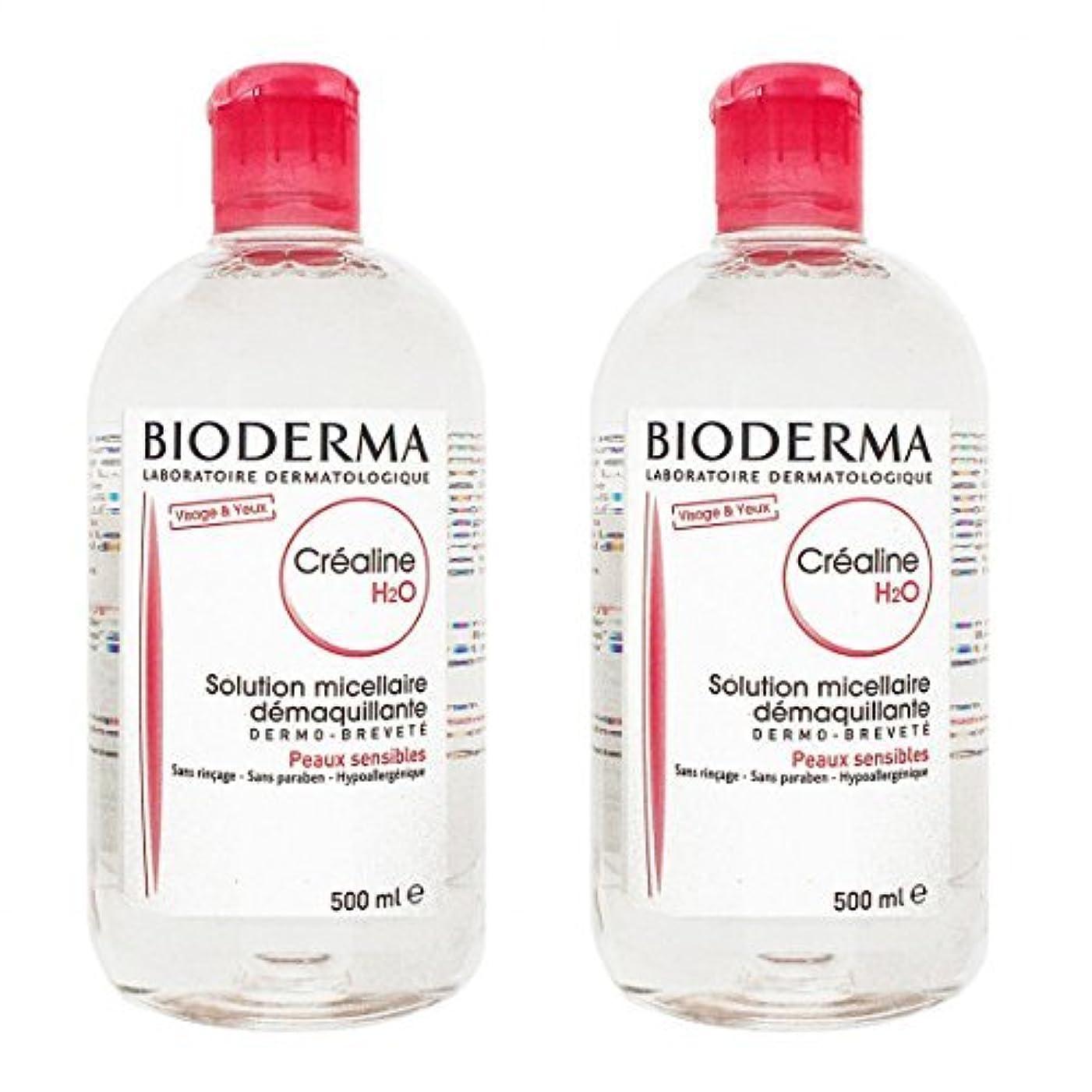 ふける限られた粘液ビオデルマ(BIODERMA) サンシビオ H2O (エイチ ツーオー) D 500ml 2本セット[並行輸入品]