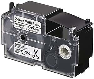 カシオ ラベルライター ネームランド マグネットテープ 24mm XR-24JWE 白