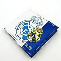 Real Madridサッカークラブ3dフェイクレザーPVC PUウォレット財布Billfold 5カードスロット