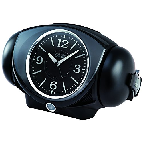セイコー クロック 目覚まし時計 アナログ 大音量 ベル音 PYXIS ピクシス ULTRA RAIDEN ウルトラライデン 黒 NR441K SEIKO
