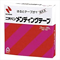 ニチバン:メンディングテープ (小巻) 巻芯径25mm 1巻 (幅12mm×長30m) MD-12C 04582