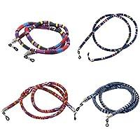 F Fityle 4Pcs Ethnic Boho Sunglasses Lanyard Eyeglass Glasses Chain Cord Round Strap