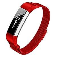 Kutop for Fitbit Alta Hr バンド, Altaのためのステンレススチール調節可能な時計バンド交換ストラップバンド 腕時計