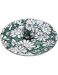 9-10 マーガレットグリーン 9cm香皿 お香立て お香たて 陶器 日本製 製造?直売品