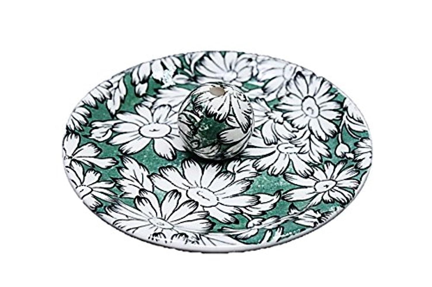 ストローカウンターパート加害者9-10 マーガレットグリーン 9cm香皿 お香立て お香たて 陶器 日本製 製造?直売品
