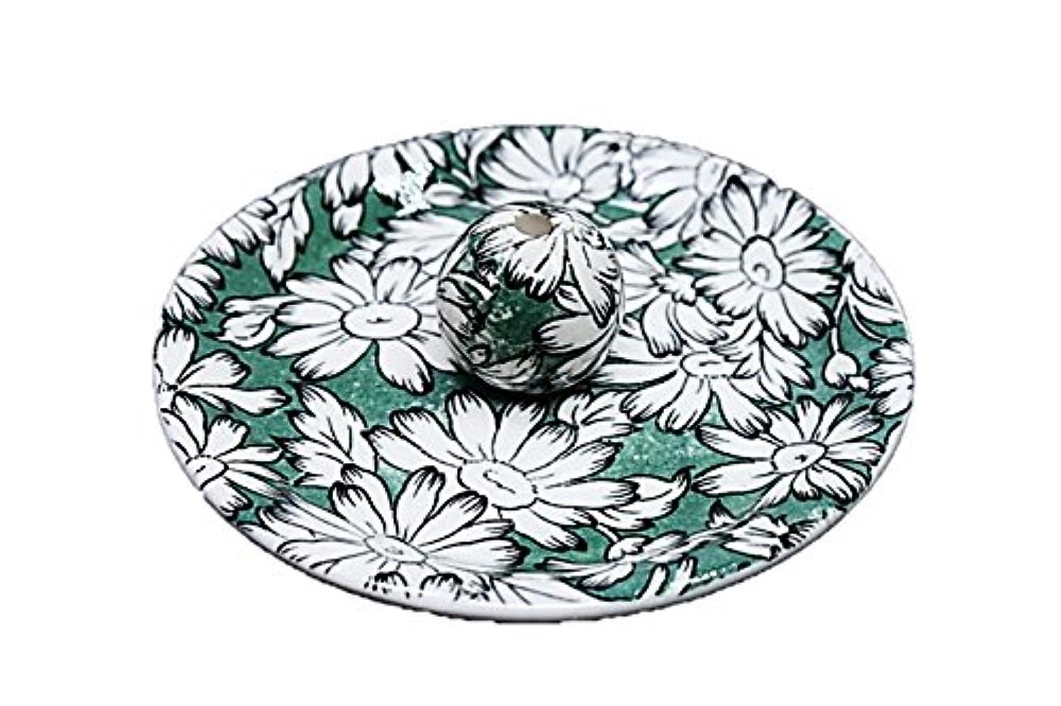 良い宅配便ハイジャック9-10 マーガレットグリーン 9cm香皿 お香立て お香たて 陶器 日本製 製造?直売品