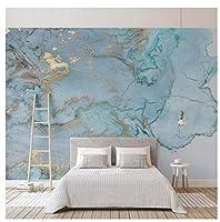 Mingld カスタム写真の壁紙3Dステレオブルーテクスチャ大理石の壁紙壁画リビングルームテレビソファ寝室研究の装飾-350X250Cm