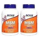 【バリュー2本セット】[海外直送品] NOW Foods NOW MSM 1000mg 120粒