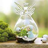 Hommy ガラス 花瓶 水耕 テラリウム ボトル 燭台 装飾 - 天使