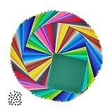 折り紙 50色 200枚+8mm目 100枚ウィグリー目 カラーペーパー 15cm 千羽鶴 動物 用折紙 両面折紙