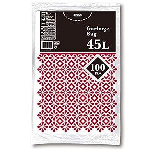日本技研工業 ゴミ袋 半透明 45L 厚み0.011mm 薄くて強い 〔ケース販売〕 ME100H 100枚入 15個セット
