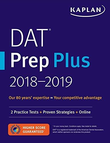 DAT Prep Plus 2019-2020: 2 Practice Tests + Proven Strategies + Online (Kaplan Test Prep) (English Edition)
