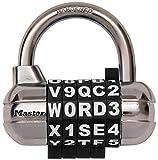 Master Lock 【正規輸入品】 ワード可変式南京錠 ブラック 1534JADBLK