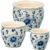 陶器植木鉢 3点セット 【植木鉢 おしゃれ 陶器 室内 室外 白 かわいい きれい 4号 5号 小型 プランター ガーデニング】