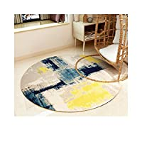 ZHWEI 丸型カーペット 滑り止めも強力 円形 ラグマット ドアマット 防カビ ノルディック 抽象的なスタイル リビングルーム コーヒーテーブル 椅子のクッション 6色、 4サイズ (Color : C, Size : 120cm diameter)