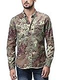 (マッチスティック)Matchstick メンズ ミリタリー 長袖 迷彩 ミリタリーシャツ#G2250(2XL,G2250 迷彩1#)