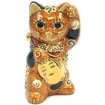 九谷焼 踊る♪招き猫 金小判 N-024F
