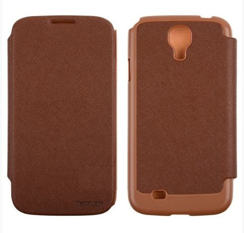 GALAXY S4 レザーフリップケース (docomo GALAXY S4 SC-04E/Samsung Galaxy S IV 対応 By Mercury) GOOSPERY FANCY Flip Style (ワンセグ対応/ICカード収納/画面保護フラップ) Brown(茶)