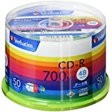 三菱ケミカルメディア Verbatim 1回記録用 CD-R SR80SP50V1 (48倍速/50枚)