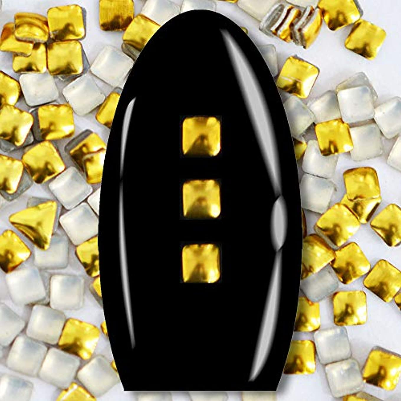 保護美しい疲労メタルスタッズ ネイル用 100粒 STZ015 スクエア ゴールド 2mm