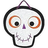 Skull Sign Family FriendlyハロウィンTrick or Treatパーティー装飾、紙、10 3 / 4 x 10 1 / 2。」