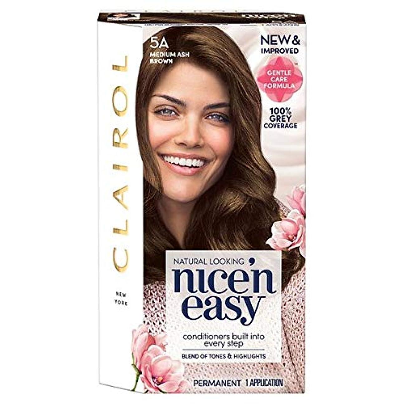 民間人応用ブレース[Nice'n Easy] クレイロール素敵な「N簡単にメディアアッシュブラウン5Aの染毛剤 - Clairol Nice 'N Easy Medium Ash Brown 5A Hair Dye [並行輸入品]