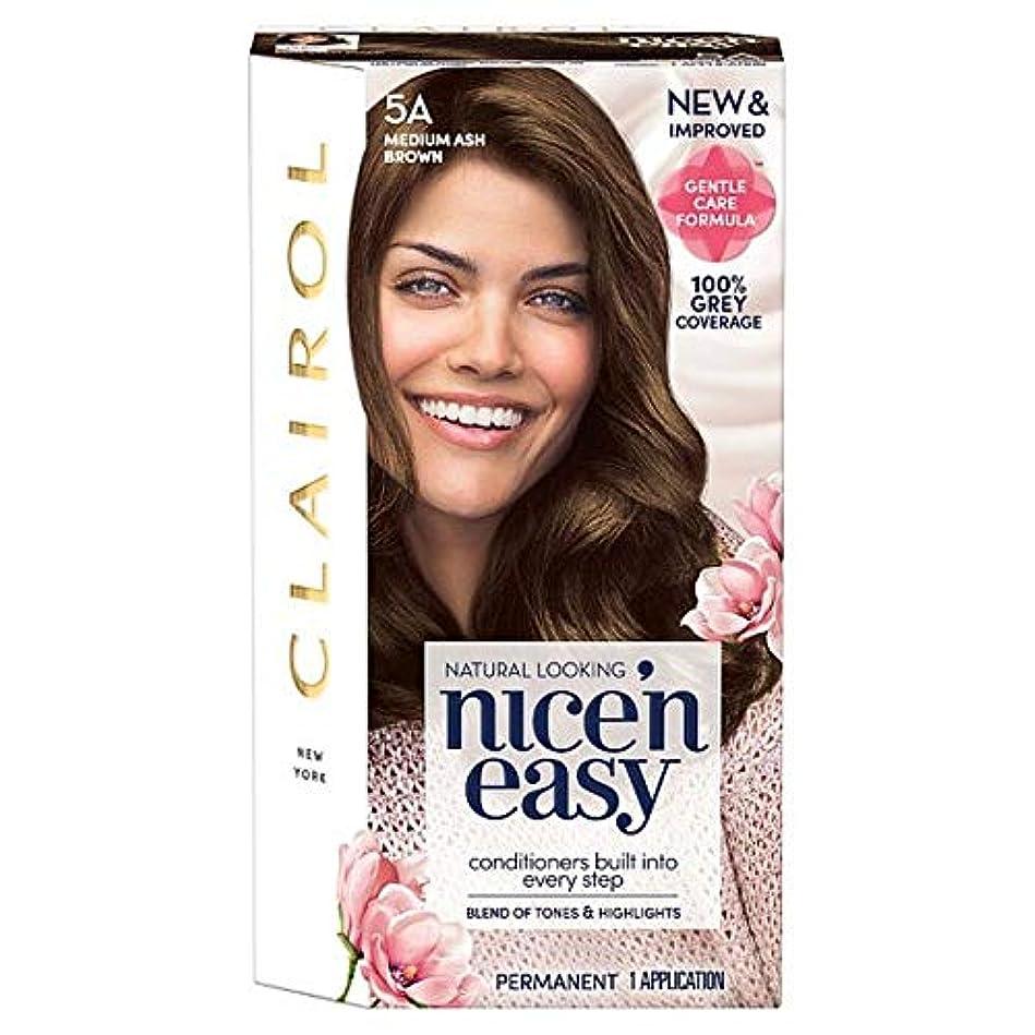 イーウェルうめき声製造業[Nice'n Easy] クレイロール素敵な「N簡単にメディアアッシュブラウン5Aの染毛剤 - Clairol Nice 'N Easy Medium Ash Brown 5A Hair Dye [並行輸入品]